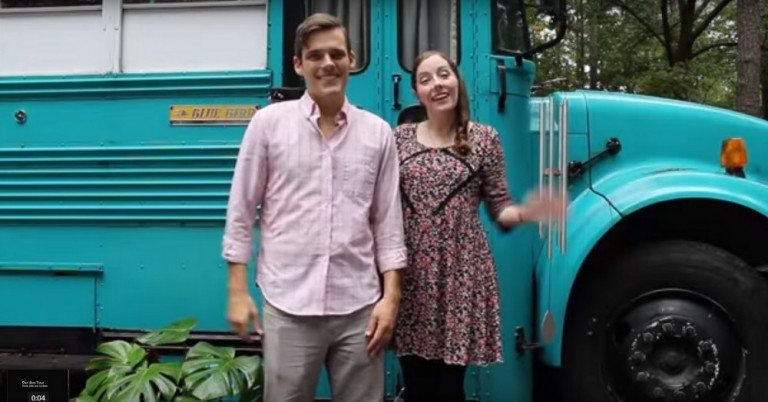 Life on the go… from school bus to a truly mobile tiny home!