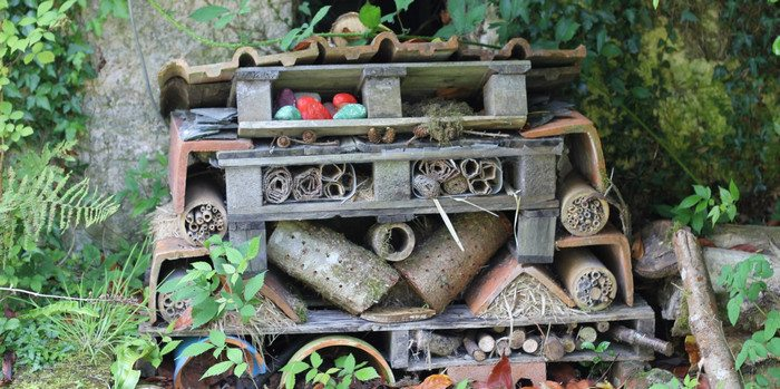 An insect house is a simple way to bring the best of nature back into your yard.