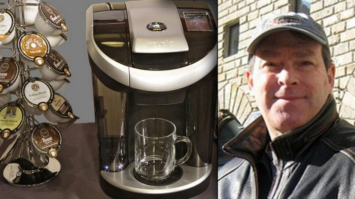 John Sylvan, inventor of the single serve coffee pod, walks the talk by not owning a machine.