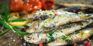 Grilled sardines - Mediterranean style are rich in essential fatty acids