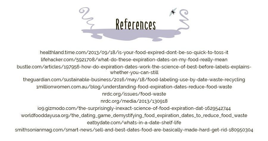 Food wastage reference sources