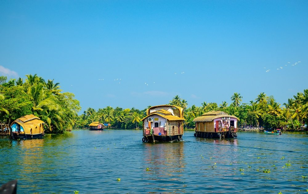 India's major cities are crowded and unpleasant but the rest of India offers quietude as these traditional houseboats in the backwaters of Kerala show.