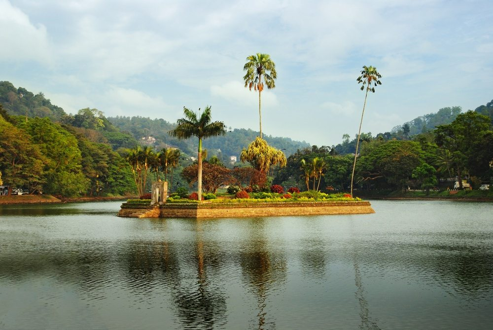 The Royal Summer House is in the middle of the Kandy lake, Sri Lanka