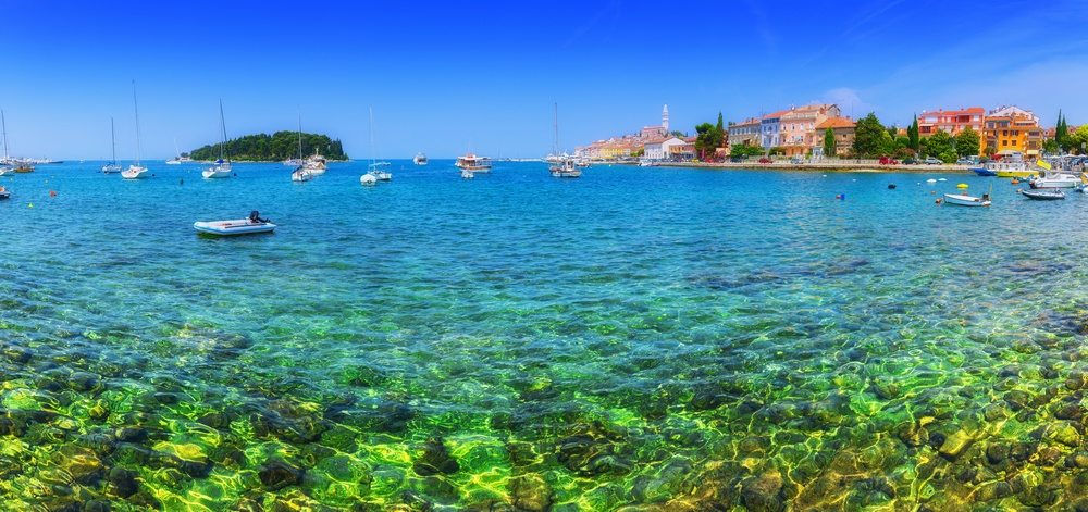 The Adriatic Sea at Rovinj, Croatia