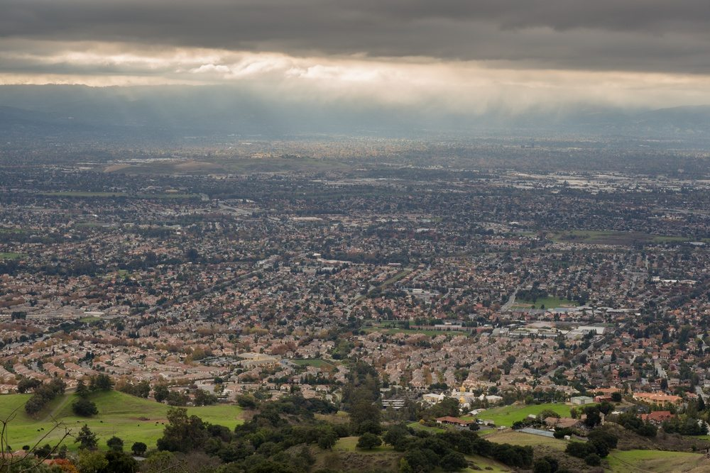 Cause or effect - Silicon Valley and San Jose as seen from the top of Mt. Hamilton