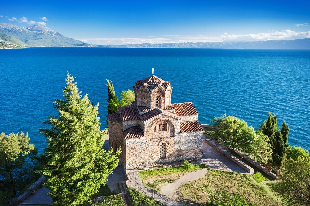 Like Greece only cheaper :) Church of St. John at Kaneo, Ohrid, Macedonia