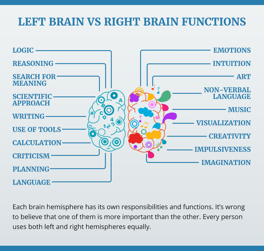 Left or right brain dominance