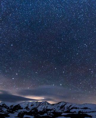 Night sky at high latitude by teddy kelley