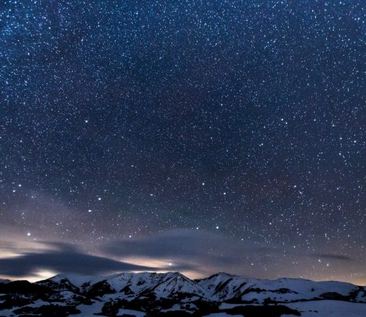 Night sky at high latitude by teddy kelley