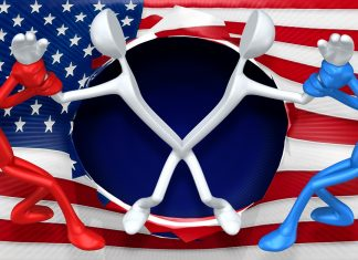 American Flag Concept With The Original 3D Character Illustration