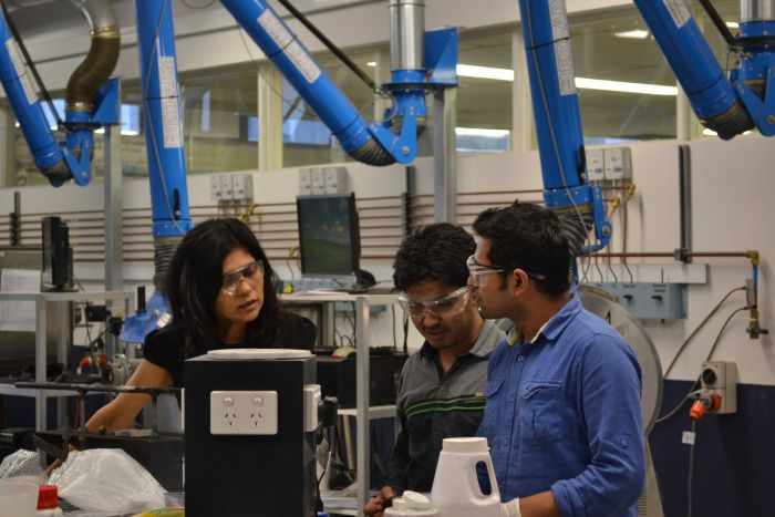 Professor Sahajwalla thinks micro-factories can disrupt the manufacturing supply chain.
