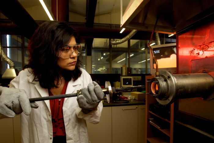 Professor Veena Sahajwalla hopes to establish small-scale factories across Australia to turn waste into something useful.