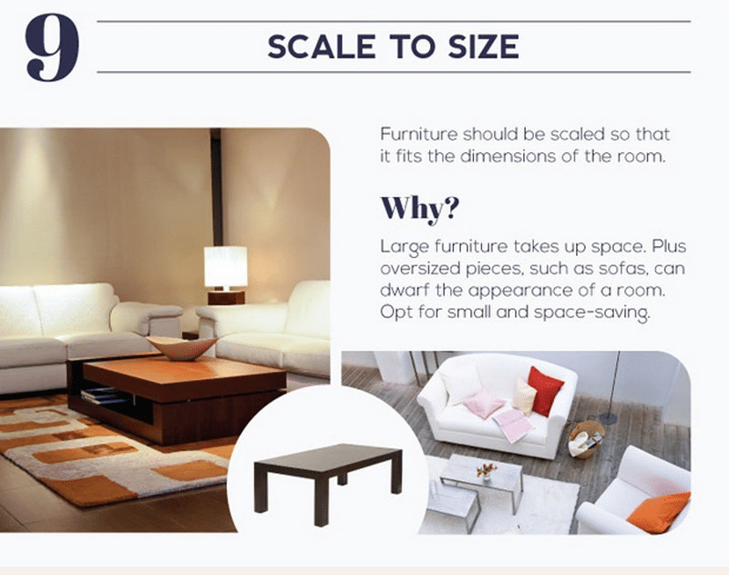 When it comes to furniture, one size doesn't fit all