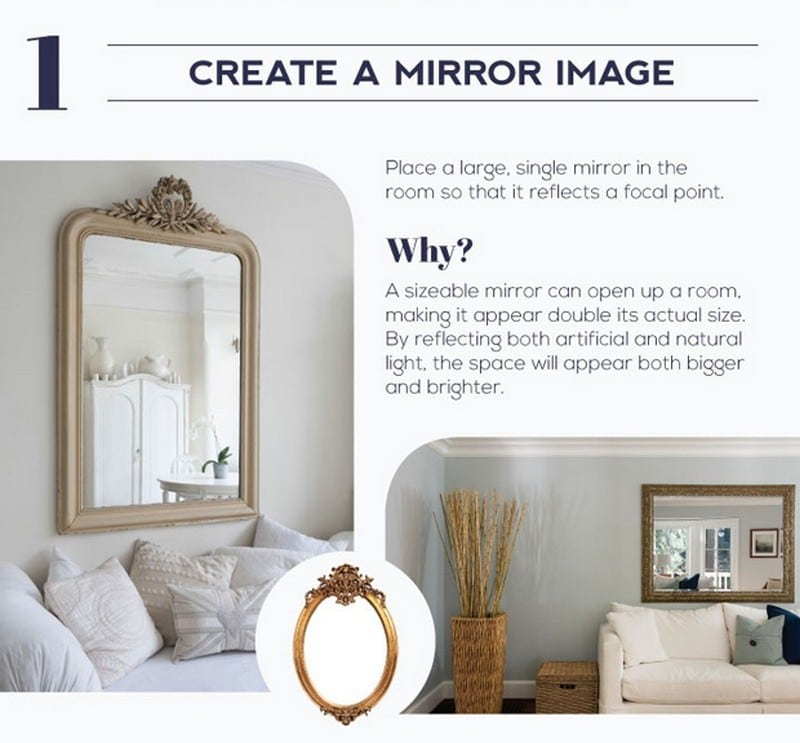 The magical multiplying effect mirrors have on room size