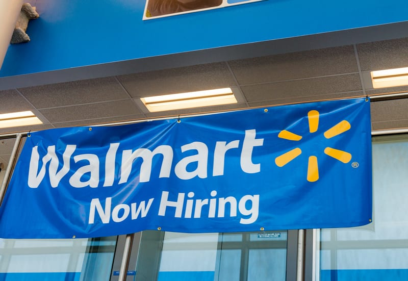 Lots of jobs... but many claim they can't exist on the wages at Walmart.