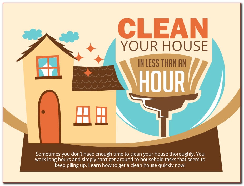 It's possible to clean your home in just 60 minutes