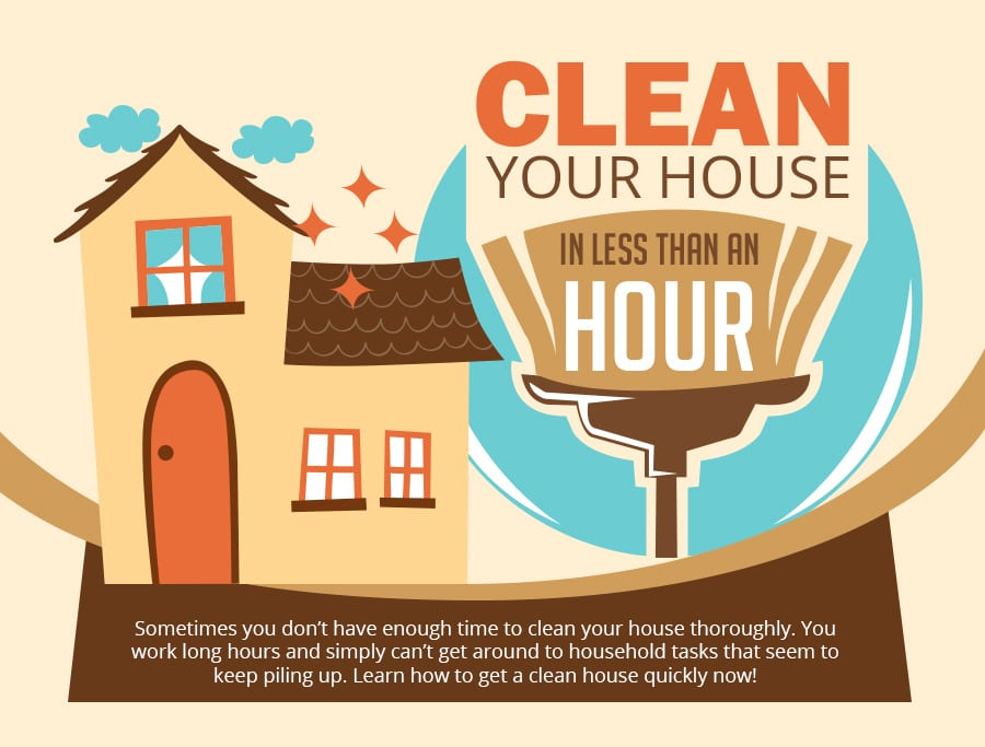 Clean Your Home In Just 60 Minutes