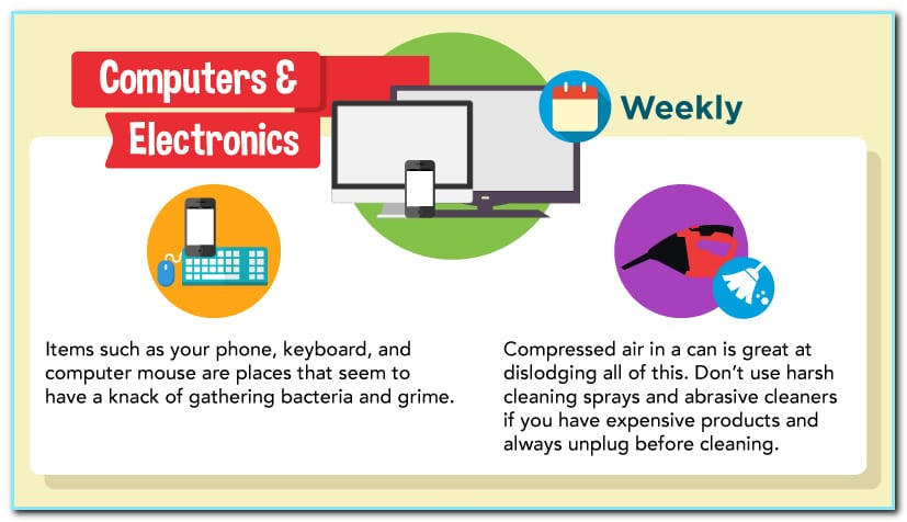 Compressed air will do a good job in cleaning your gadgets.