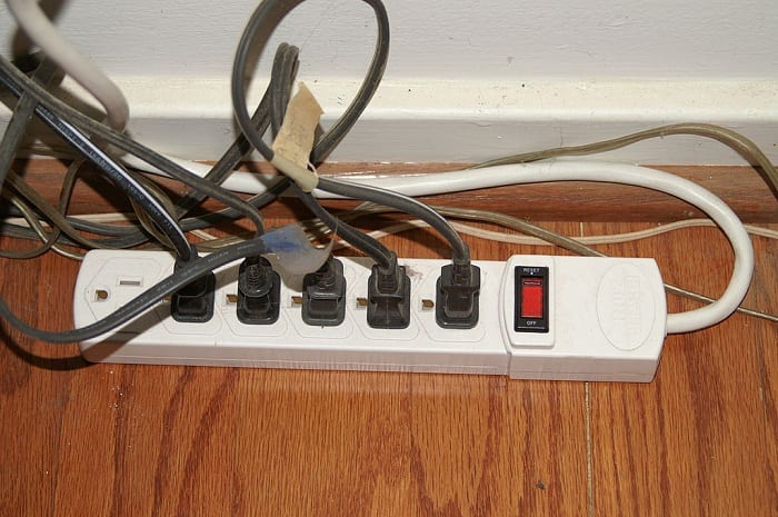 Check all appliances and lighting for frayed or damaged cords.