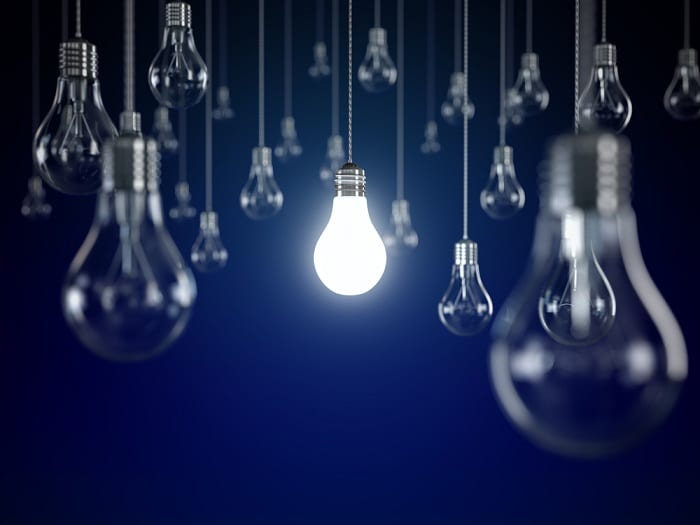 Use light bulbs with wattage that's less than - or equal to - the maximum wattage printed on the lamp's socket.