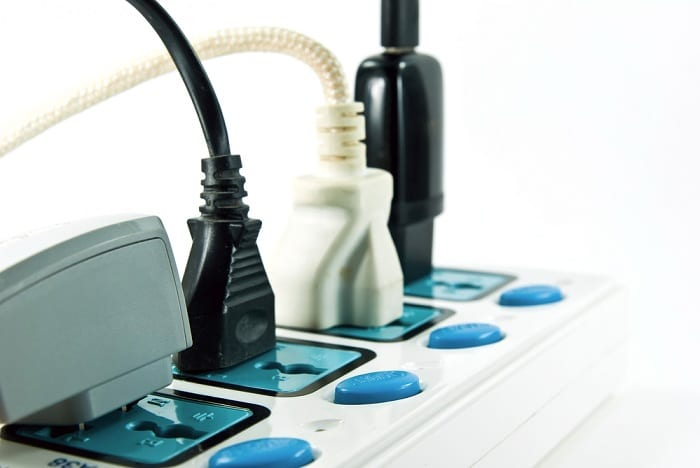 Power strips and outlets can only accommodate a certain amount of electricity.