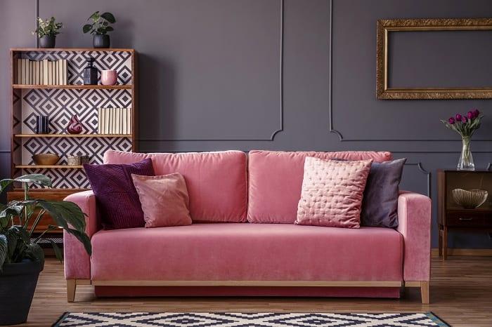Velvet  symbolizes luxury and affluence.