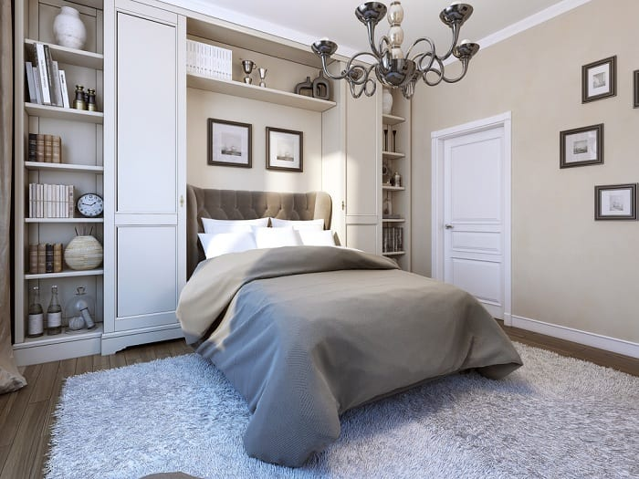 Keeping your bedroom organized allows you the pep you need to start the day right.