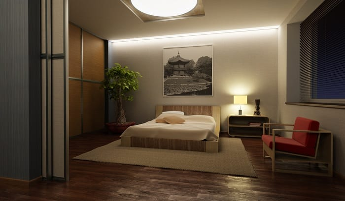 This approach will appeal to those who like simple, appropriately structured room with a minimal amount of furniture.