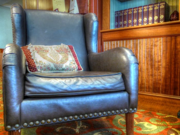 "Mention ""easy chair"" and most people will invariably picture something large, upholstered, and well padded."