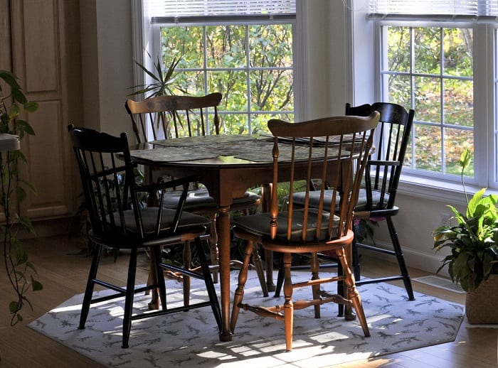 The Windsor is the classic dining chair in many homes.