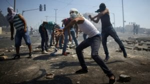 Riots in the West Bank