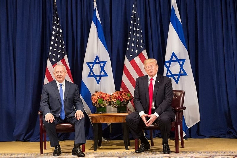 "Trump claims that his peace plan is a ""realistic two-state solution."" Some question to which two states the US president refers."