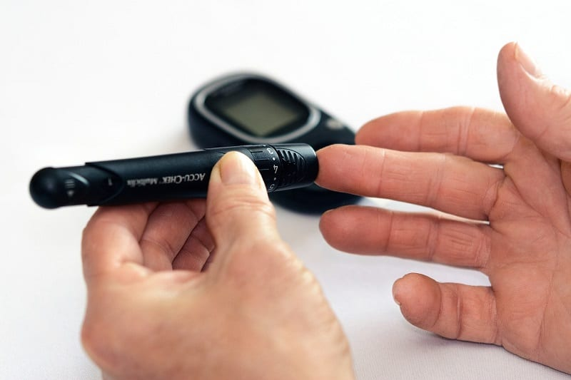Because their bodies attack the pancreatic cells that control blood glucose, type 1 diabetics must regularly measure their blood sugar levels with finger pricks.