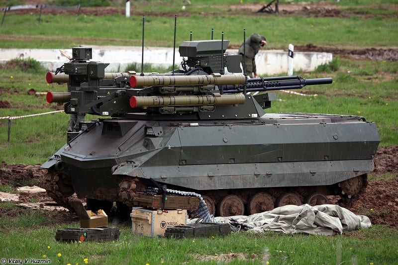 The Russian military revealed it had combat-tested its Uran-9 robot tank in Syria.