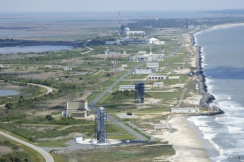 The US government uses the Wallops Island Research Range to launch rockets and test new weapons technology.