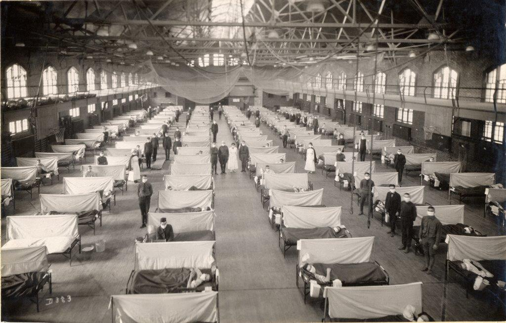 Warehouses and factories converted to hospitals.