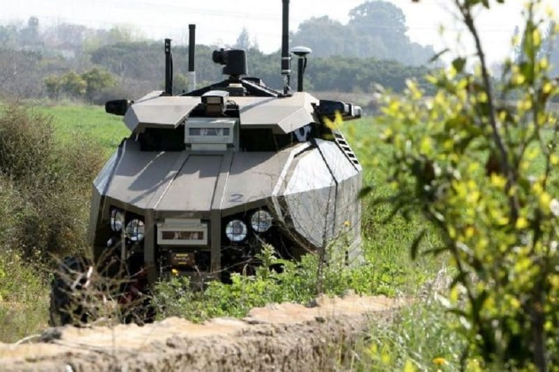 The Israeli military regularly deploys an armed ground robot to patrol the Gaza border.