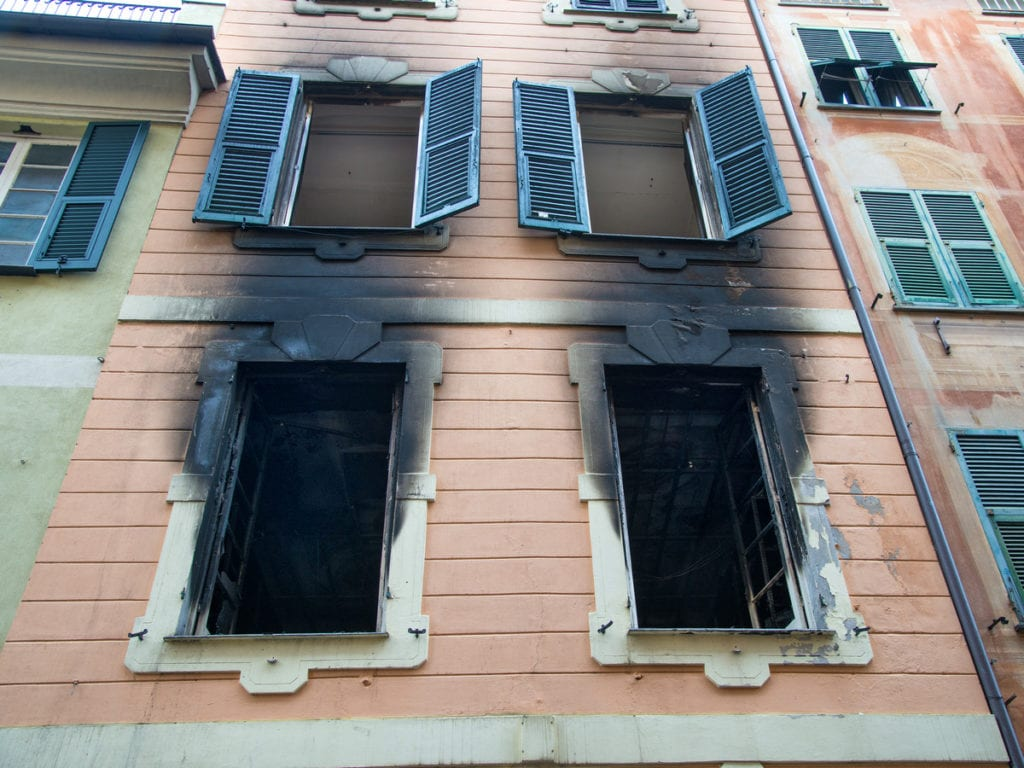 A house fire may start because of a fault or because of vandalism.