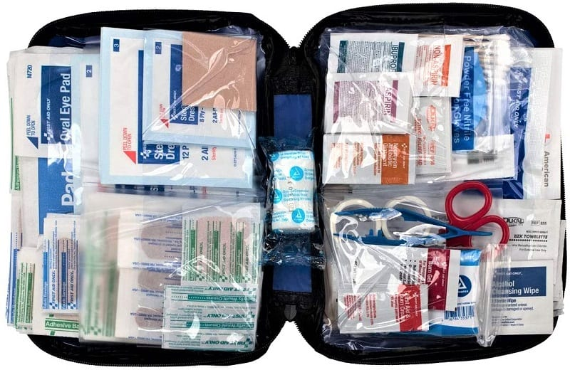 The First Aid Only All-Purpose First Aid Essentials Kit is excellent for a weekend campsite.