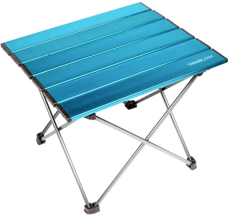 Trekology's Portable Camping Side Table is only 3.2 lbs.