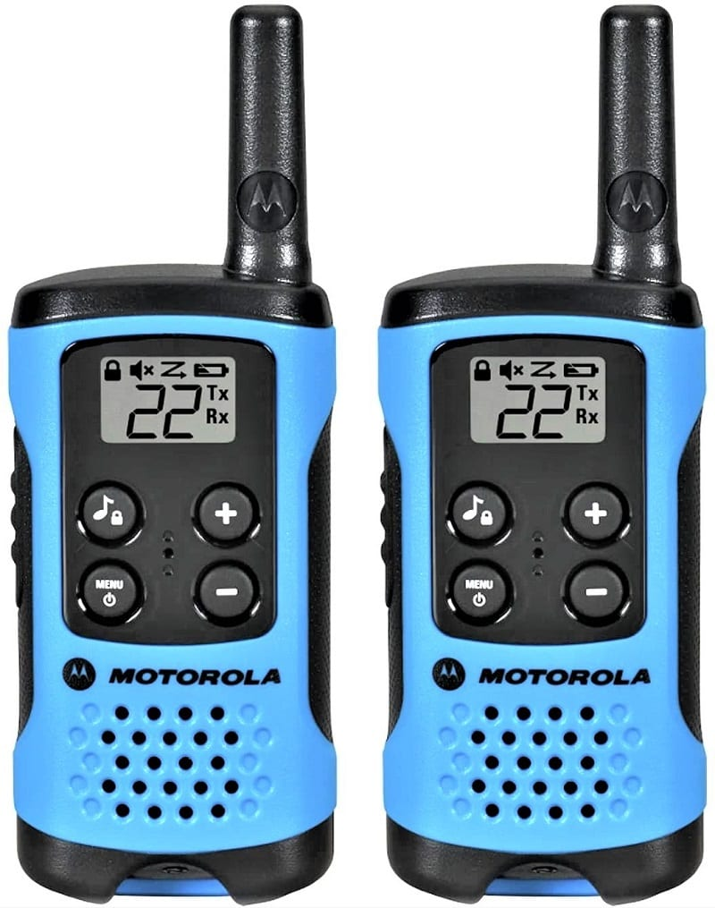 Motorola T100 radios are compact, lightweight, and easy to use.