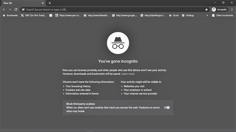 The simplest way to browse the web with fewer footprints is to pop open an incognito window.