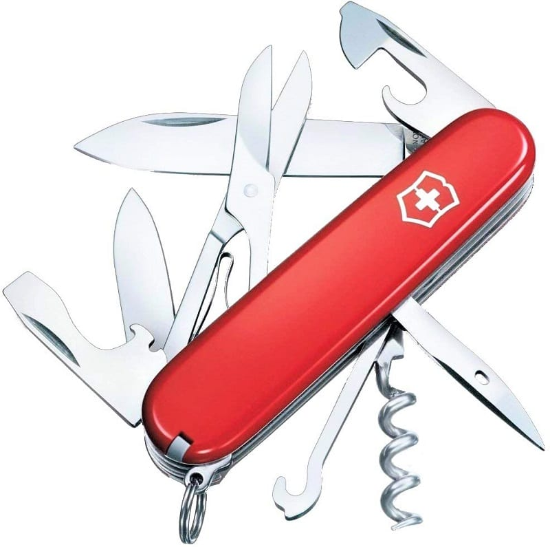 You can use the Victronix Swiss Army Climber Pocket Knife to serve a variety of purposes.