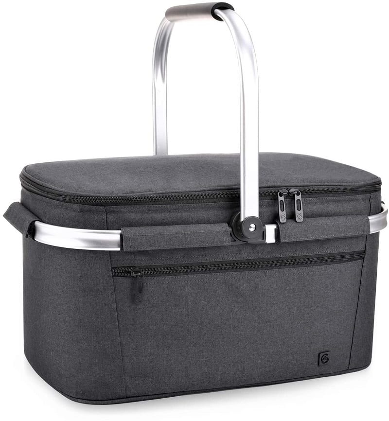 The Allcamp Outdoor Gear Picnic Basket comes fully insulated with heat-sealed and leak-proof lining.