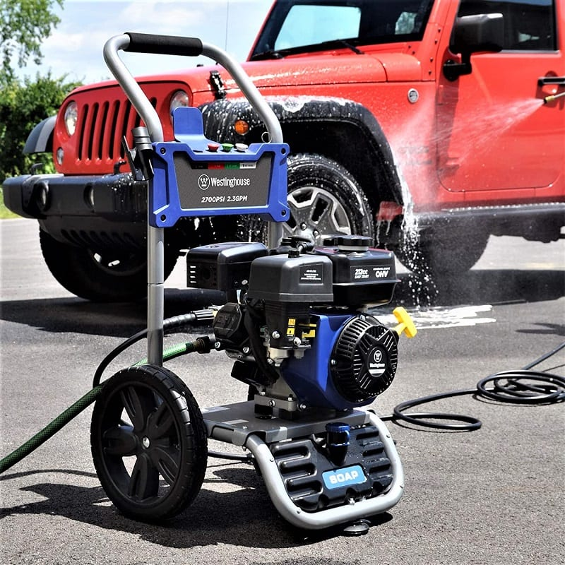 If you're looking for a portable gas-powered pressure washer, you'll do well to consider the Westinghouse WPX2700.