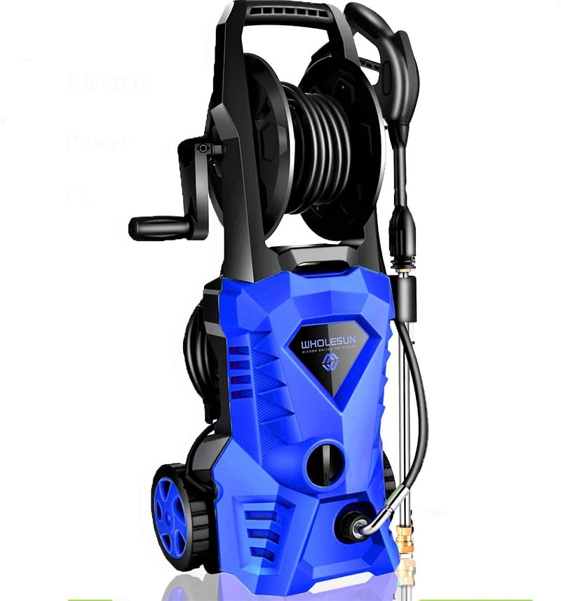 The Wholesun 3000 PSI electric pressure washer is another budget-friendly option in the power washer market.