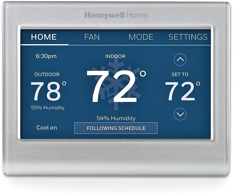 This Honeywell WiFi Smart Color Thermostat is a great option for homeowners who want a device that's easy to use and read.