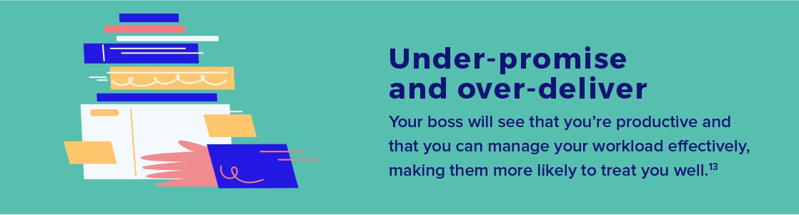 Your boss will see when you manage your workload effectively.