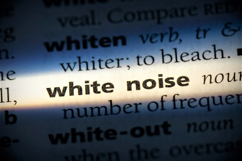 White consists of low-, medium-, and high-frequency sounds played together at the same intensity level.