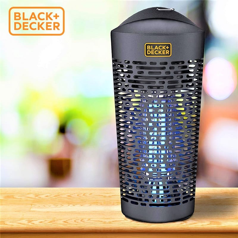 The Black & Decker Outdoor Bug Zapper lures pests from up to a half-acre of outdoor space.